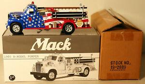 DTE 1:34 FIRST GEAR 19-1051 NEW YORK NYSAFC 1960 MACK FIRE TRUCK PUMPER NIOB