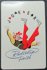 Redislip Finish Joker Single Swap Playing Card Diamond Crystal Salt Ad on Back