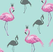 Arthouse Queen Flamingo Pink & Teal Wallpaper - Sparkle Glitter - 674701