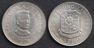 1975 Emilio Aguinaldo 25 Piso Philippine BSP Commemorative Silver Coin #A2
