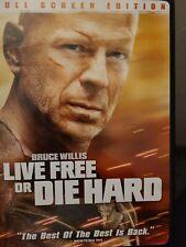 Die Hard 4: Live Free or Die Hard (Dvd, 2007, Rated Full Frame Single Disc Vers…