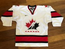 NIKE CANADA HOCKEY JERSEY SMALL WITE STITCHED NHL TEAM RED BLACK