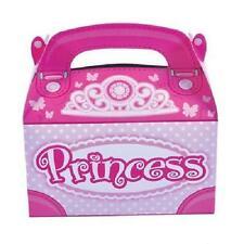 24 PRINCESS TREAT BOXES Birthday Party Loot Goody Bags Pink #SR53 FREE SHIPPING
