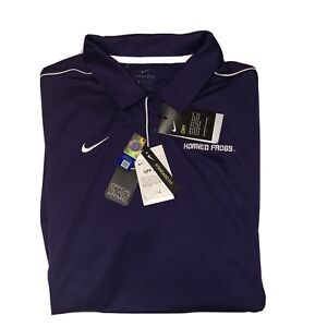 Nike Dri-fit Mens TCU Horned Frogs Polo Size 3xl Officially Licensed