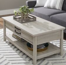 Better Homes & Gardens Modern Farmhouse LiftTop Coffee Table Rustic White Finish