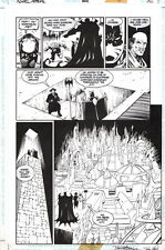 Denny O'Neil Azrael Annual #2 Original Art Page Bane by Barry Kitson John Stokes