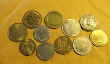 Half Dollar size tokens/variety ....lot of 11