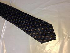 "Boys 51"" Black Blue Gold Tie Necktie TBA~ FREE US SHIP (10504)"