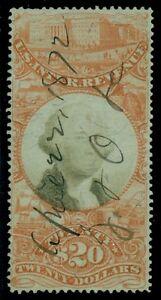US #R150 $20.00 Documentary, used, VF, Miller certificate Scott $900.00