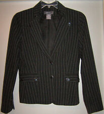 George Black Pin Stripped Blazer Size 8