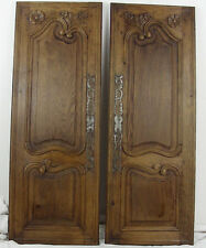 pair French antique great door cabinet panel style provincial