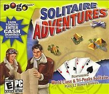 Video Game PC POGO Solitaire Adventures World Class & Tri-Peaks NEW SEALED
