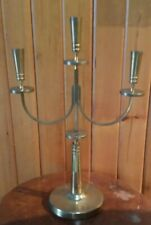 Large Vintage Brass Candlestick Candle Holders Calalabra Altar Church Temple