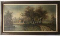 Original Oil On Canvas Signed Framed Of Landscape By George Winter