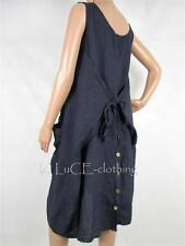 Linen Round Neck Sleeveless Dresses for Women
