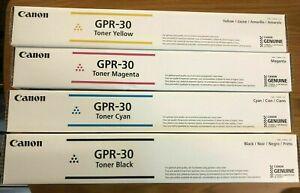 4 Genuine Canon GPR-30 CYMK Color Toner - IRC5045 C5051 C5250. Great deal. Read!