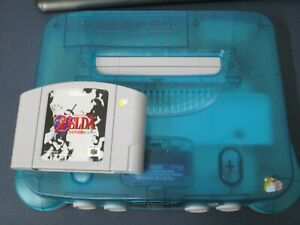M Nintendo 64 console Clear Blue Japan N64 w/game