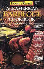 All American Barbecue BBQ Small Cookbook Favorite Recipes #8 1989