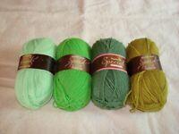 4 Skein Lot Stylecraft Special DK Yarn Lime Spring Green Cypress Grass Green(#6)
