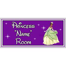 Personalizado Princesa De Disney Princesa Tiana Dormitorio Puerta Firmar – & Rana – Purple