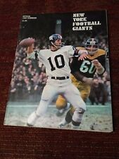 1968 NFL Football Official New York Giants Yearbook Fran Tarkenton cover NICE