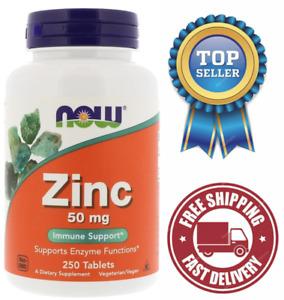 NOW Foods, Zinc (Zinc Gluconate) 50 mg, Immune Support*, 250 Tablets