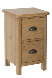 Country Oak 2 Drawer Small Bedside Cabinet / Solid Wood Nightstand / Bedside