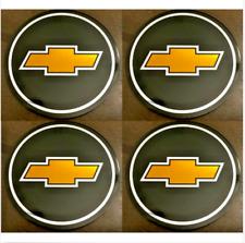 4pcs Chevy Emblem Badge Rally Wheel Center Hub Caps Logo Stickers