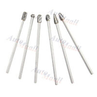 "6pcs 1/4"" Tungsten Carbide Burr Rotary Drill Bits Tools Cutter Files Set Shank"