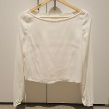 Kookai white long sleeve blouse