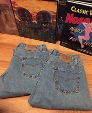 Lot 2 Vintage Levis 501 Small e No Redline Button Fly Denim Jeans. Size 34 x 30