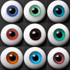 Lots6 pair of 22MM FlatBack BlackPupil Glass BJD Eyes for Reborn/newBorn Doll