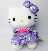 "Sanrio Hello Kitty in purple skirt 9"" Plush Toy Christmas gift Stuffed Animal"