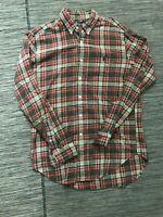 Ralph Lauren Classic Fit Button Front Shirt Men's Medium Long Sleeve Plaid