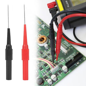 2pcs Line Test Probe Insulation Piercing Needle Multimeter Wire Cable Lead