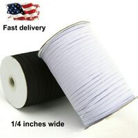 100 Yards Elastic Bands Cord 1/3inch 1/4inch Braided Elastic String Sewing Craft
