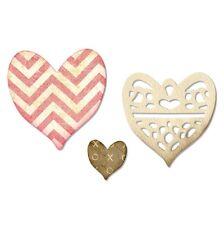 Siizzix Thinlits Die Set 4PK: Medallion, Layering Heart - 658915 NEW - Wedding