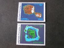 FRENCH POLYNESIA, SCOTT # 587+589(2),46fr+75fr(2),1992 SPACE VIEWS ISS USED/MNH