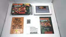 DONKEY KONG COUNTRY (Super Nintendo) COMPLETE IN BOX! 1st print! SNES Authentic!