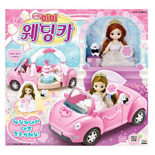 Little Mimi Wedding Car Toy Set Korean Barbie Doll Wedding Party for Girl Kids