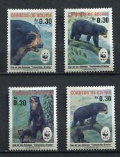 37173) Bolivia 1990 MNH Wwf Bears 4v Scott #827/30