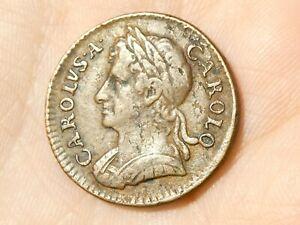 1673 Charles II Farthing Nice Grade #R109