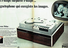 PUBLICITE ADVERTISING 125  1970  Philips   magnétophone magnétoscope (2p)