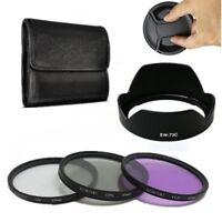 67mm UV CPL FLD Lens Filter Kit Hood EW-73C f Canon EF-S 10-18mmf/4.5-5.6 IS STM