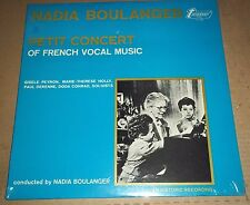 NADIA BOULANGER - Petits Concert of French Vocal Music  Turnabout TV 4183 SEALED