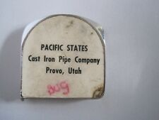 Pacific States Cast Iron Pipe Provo Utah Measure Advertising & peggywentomarket | eBay Stores