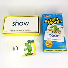 Trend 'Action Words Flash Cards' Speech Therapy Activity