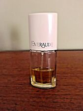 Used Coty Emeraude Cologne Spray For Women Perfume .80  Fl less than 1/2 full