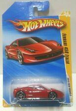2010 Hot Wheels New Models Ferrari 458 Italia Red 34