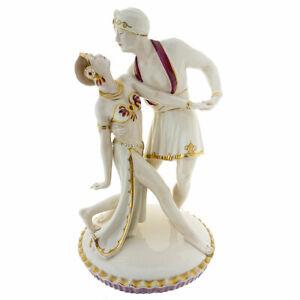 Rodolfo Valentino Vilma Bank Porzellan Figur Royal Dux farbig 1920 🌺🌺🌺🌺🌺